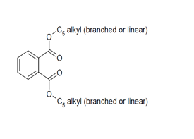 Bis-C5-alkyl-(linear and branched)phthalate