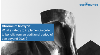 [Webinar - REACH Authorisation REACH] Chromium trioxide: what strategy to implement in order to benefit from an additional period of use beyond 2021?